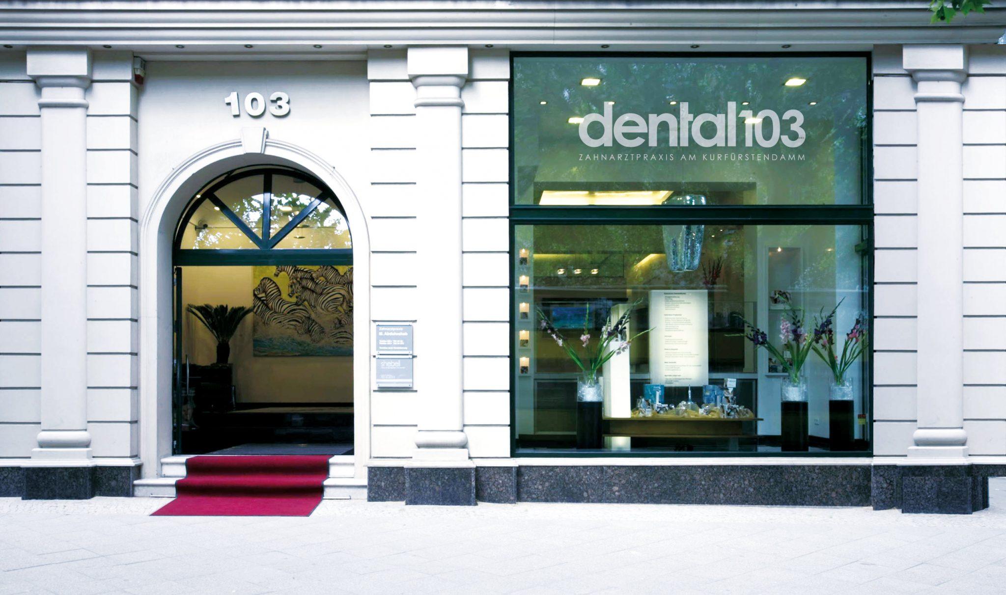 dental 103 berlin Praxis Aussen
